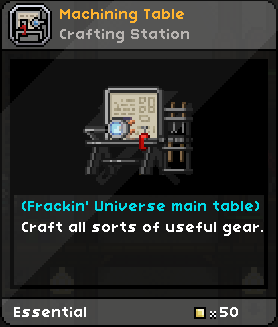 Machining table frackinuniverse wiki fandom powered by wikia contents greentooth Gallery