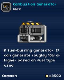 Combustion generator-0