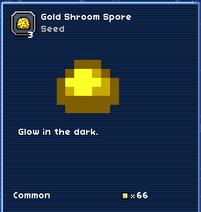 Gold shroom spore