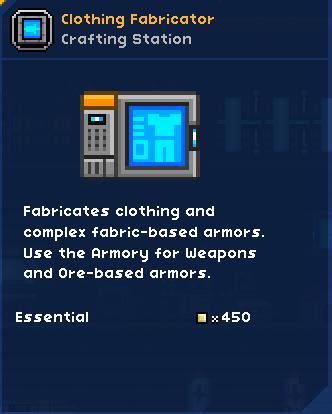Clothing Fabricator