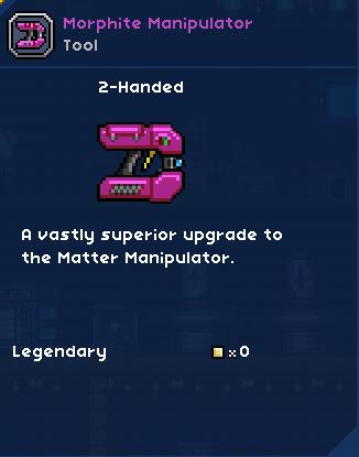 Morphite Manipulator | FrackinUniverse Wiki | FANDOM powered