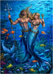King neptune and his queen by candra-d4z82zg
