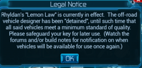 Vehicle not available