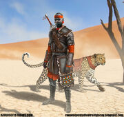 Travis-lacey-african-africa-frantasy-tracker-medieval-soldier-knight-ravenseyestudios