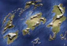 Mapa de Fralia tentativo