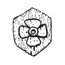 Escudo de la flor roja