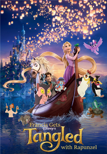 Francis Gets Tangled with Rapunzel Poster
