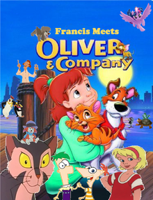 Francis Meets Oliver & Company Poster