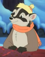 Badger In Winter Outfit