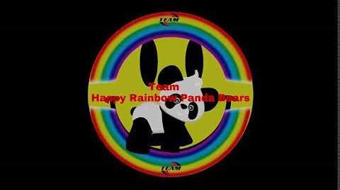 Team Happy Rainbow Panda Bears logo (Safety Version)