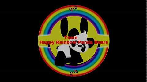 Team Happy Rainbow Panda Bears logo (Safety Version)