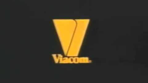 Viacom V of Happiness logo (1986) (Orange)