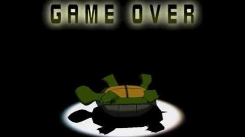 The scariest game over ever in a non-horror game(TMNT 2003) game over