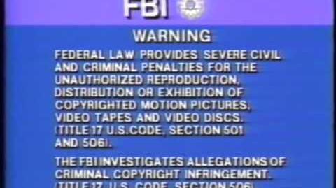 Sony FBI Warning and HiFi stereo logo (2000?)
