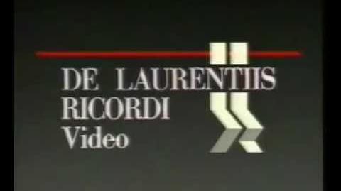 VHS Companies From the 80's -221 DE LAURENTIIS RICORDI VIDEO (ITALIAN)