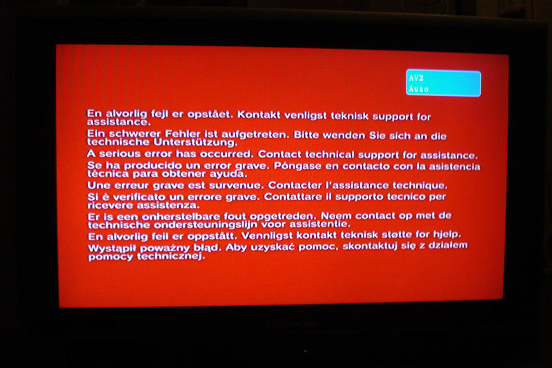 red screen of death ps2