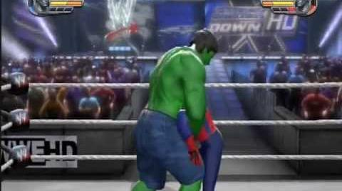 Hulk vs Spiderman - WWE All Stars