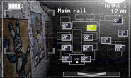 FNaF 2 (Móvil) - Main Hall (Izquierda, luz apagada)