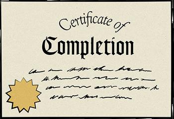 Certificado - Completed - Freddy Fazbear's Pizzeria Simulator