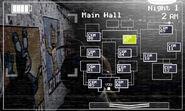FNaF 2 (Móvil) - Main Hall (Toy Chica, izquierda, luz apagada)