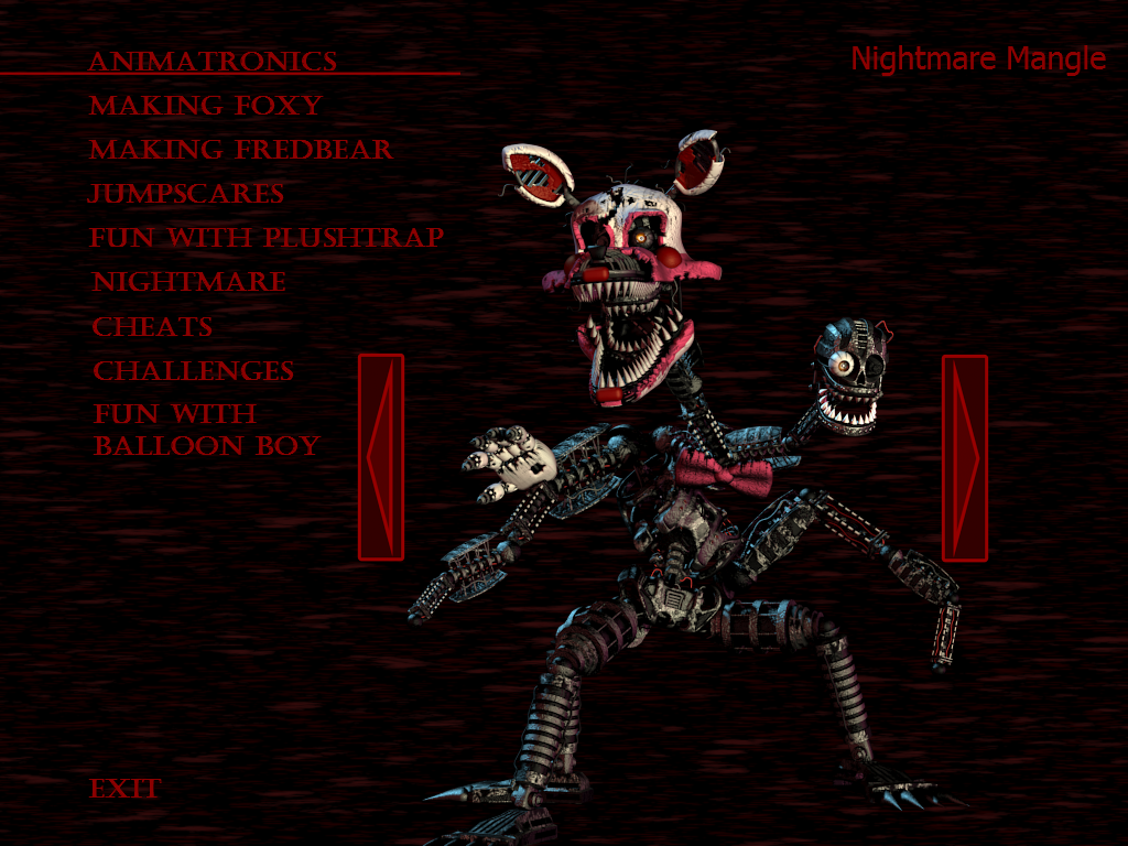 Image - Nightmare mangle extra.png | Five Nights at Freddy's Wiki ...