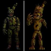 Springtrap i Salvage Springtrap porównanie