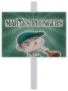 Marty's Plungers Sign