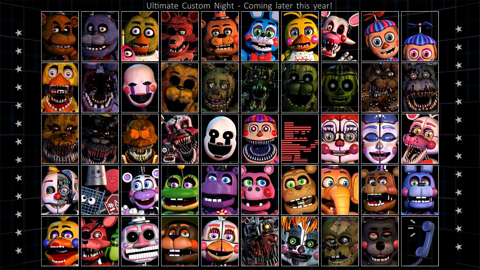 Ultimate Custom Night   Five Nights at Freddy's Wiki