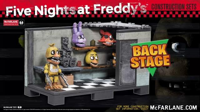Five Nights at Freddy's Backstage Construction Set from McFarlane Toys