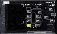 FNaF 2 (Móvil) - Left Air Vent (Luz apagada)