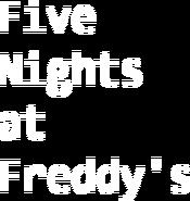 Fnaf 1 menu logo