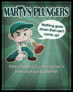 Marty's Plungers Poster