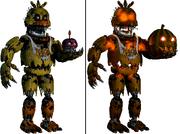 Nightmare Chica i Jack'o Chica-porównanie