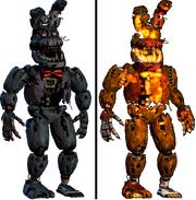 Nightmare Bonnie i Jack'o Bonnie-porównanie