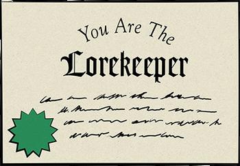 Certificado - Lorekeeper - Freddy Fazbear's Pizzeria Simulator