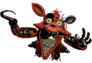 Withered Foxy Merchandise Render