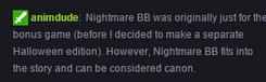 Scott Cawthon - Confirmando que Nightmare BB es canon
