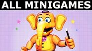 FNAF 6 - All Pizzeria Minigames (Freddy Fazbear's Pizzeria Simulator) (No Commentary Gameplay)
