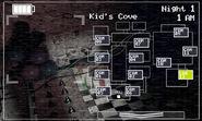 FNaF 2 (Móvil) - Kid's Cove (Izquierda, luz apagada)