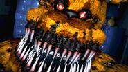 Scena z jumpscare'a Koszmarnego Fredbear'a