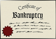 Certificate of Bankruptcy