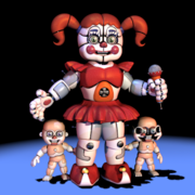 FNAFSL Baby and Bidybab Models