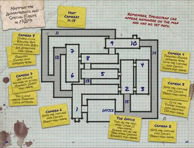 Mapa - FNaF 3 (The Freddy Files)