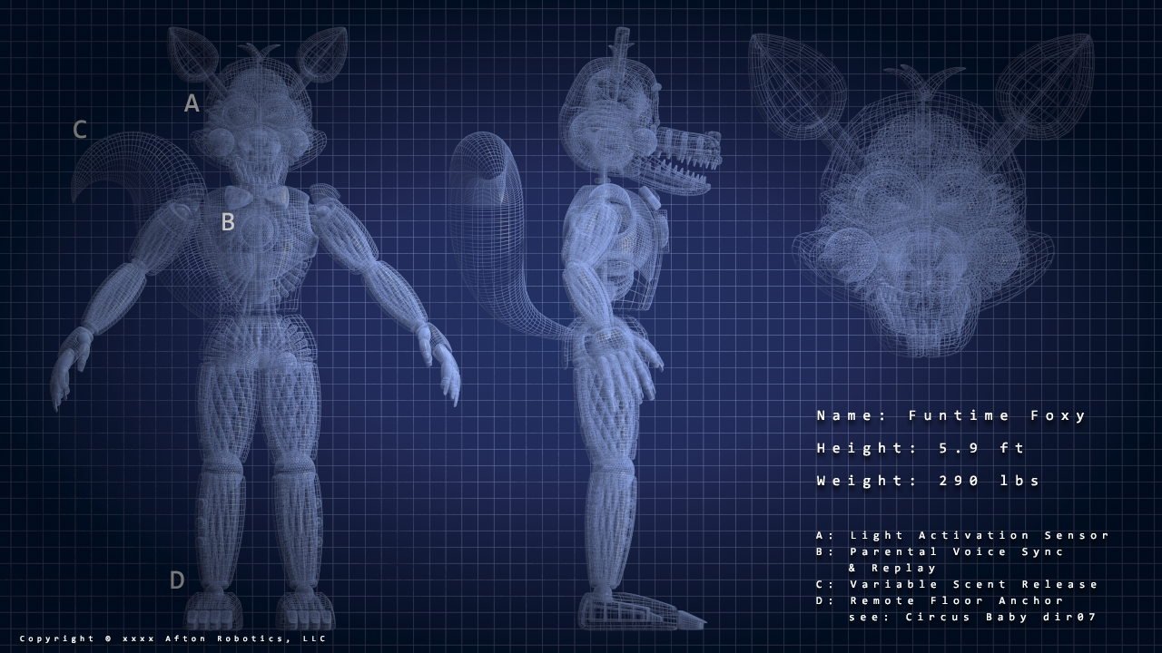 Image - FNAFSL Funtime Foxy Blueprints.png | Five Nights at Freddy\'s ...