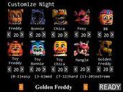 "Noche 7 con configuracion de ""Golden Freddy"""