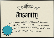 Certificate of Insanity