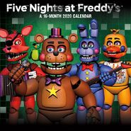 201083 five nights at freddys - mini calendar fc