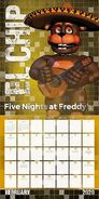 201083 five nights at freddys - mini calendar feb