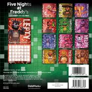 201083 five nights at freddys - mini calendar bc