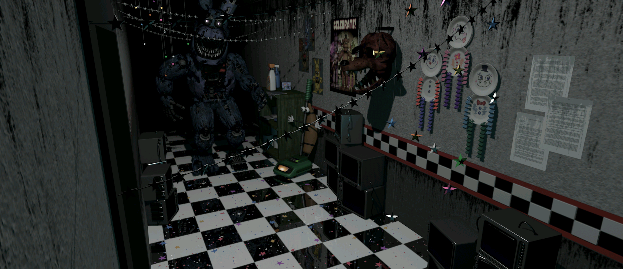 Nightmare Bonnie Freddy Fazbears Pizzeria Simulator Wiki